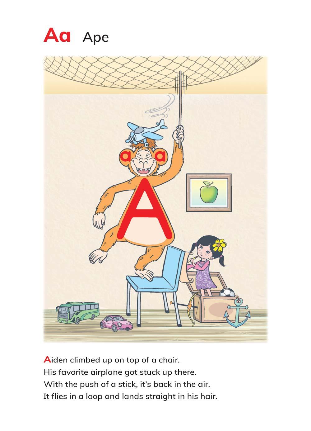 האות a מתוך הספר ABC's Magic