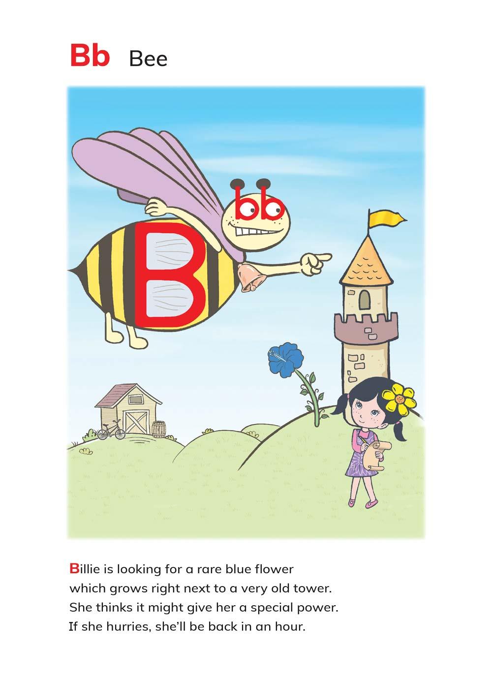 האות B מתוך הספר ABC's Magic