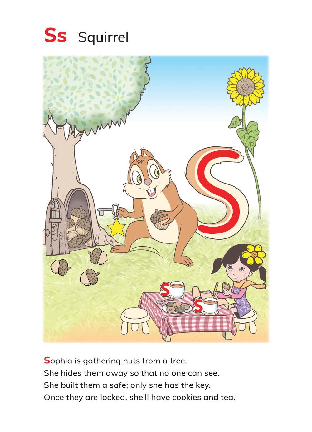 האות S מתוך הספר ABC's Magic
